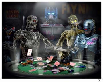 Droids Playing Poker By J J Adams