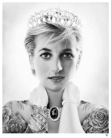 Lady Diana B&W By J J Adams