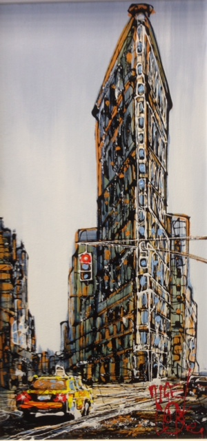 Flat Iron Building By Nigel Cooke