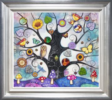 ORIGINAL -  Blue Tree Of Charms By Kerry Darlington