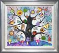 Top Selling Artwork - ORIGINAL -  Blue Tree Of Charms